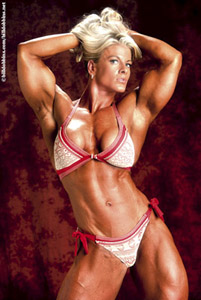 Kris Murrell, women's bodybuilding, sexy nude female muscle, fitness, figure, Bill Dobbins